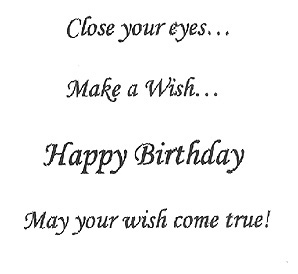 Birthday Wishes Sample Of Text Inside